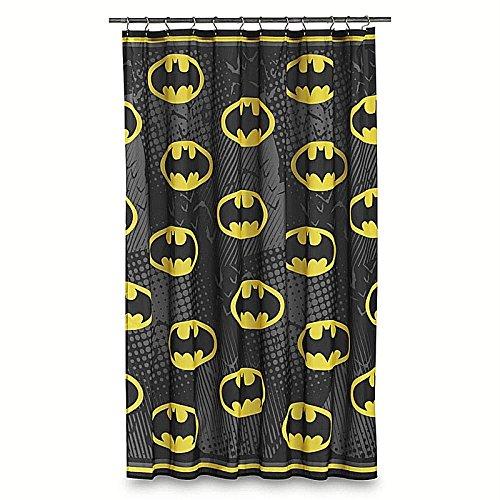 Batman Duschvorhang mit Fledermaus-Symbol, 178 x 183 cm