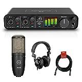 Motu M4 4x4 USB Audio Interface with AKG Project Studio P220 Condenser Mic,...