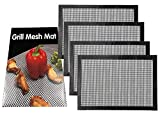 the love 4-Packed Non-Stick BBQ Grill Mesh Baking Mat 16' X 13' Best Barbecue Tool Accessories