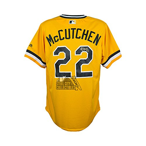 Andrew McCutchen Autograph Pirates Sunday Throwback Cool Base Jersey - MLB Holo