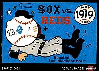 1970 Fleer World Series # 16 1919 Reds vs. White Sox Cincinnati/Chicago Reds/WhiteSox (Baseball Card) Dean's Cards 2 - GOOD Reds/WhiteSox