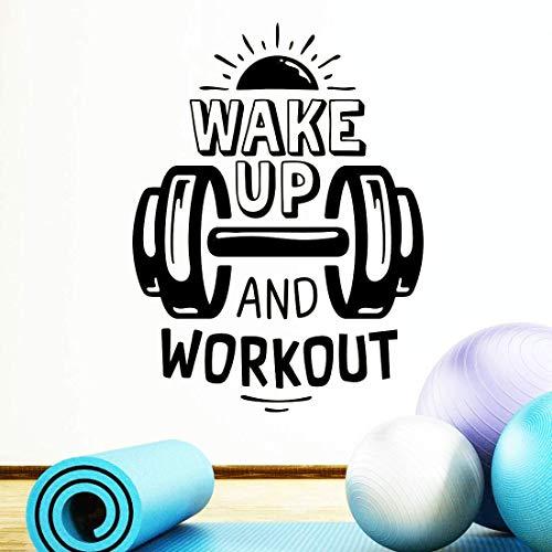 Pegatinas de pared para entrenamiento de despierta fitness boxeo gimnasio en casa, decoración de pared, póster motivador
