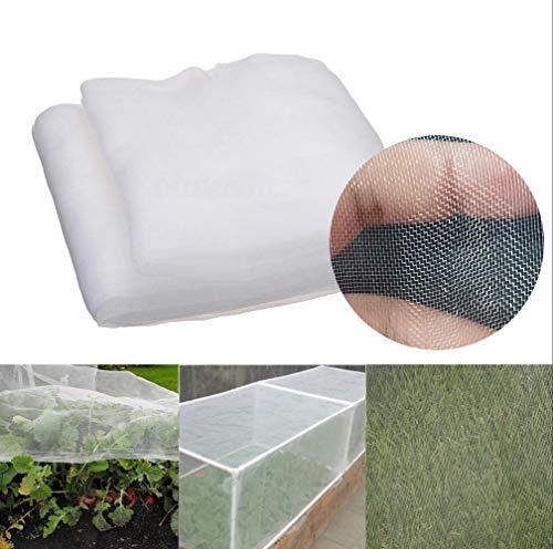 LXGKREL Gartennetz Gemüse Blumen Feinmaschig Schutznetz Insektenschutznetz Schutz vor Insekten und Vögel Ungiftig Umweltfreundlich (Größe 2.5 * 10m/Maschenweite 0.8-1mm)