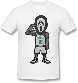 Men's Short Sleeve T-Shirt Scary Terry Rozier Novel and Unique Design White
