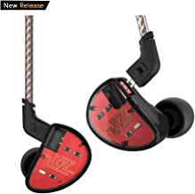 KZ AS10 Five-Driver Stereo High Fidelity in-Ear Musicians' Monitors Removable Braided Audio Cable (Black Without Mic)
