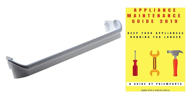 For Frigidaire Refrigerator Door Bar Bin Rack Shelf PP0364123FR6310 Bundle with PrismParts Appliance Maintenance Guide 2019 (Ships Separately)