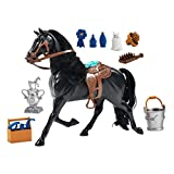 Sunny Days Entertainment Blue Ribbon Champions Deluxe Toy Horses: Arabian Stallion with Articulation, Sound & Grooming Accessories