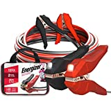 Energizer Jumper Cables for Car Battery with Built-in LED Lights, Heavy Duty Automotive Booster Cables for Jump Starting Dead or Weak Batteries - Carrying Bag Included (20-Feet (2-Gauge)