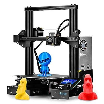 SainSmart x Creality Ender-3 3D Printer, Resume Printing Prusa i3, for Home and School Use