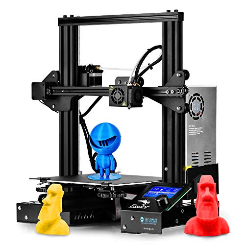 SainSmart x Creality Ender-3 3D Printer, Resume Printing Prusa i3, for Home and School Use