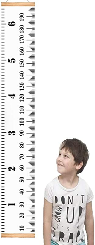 Growth Chart For Kids 78 7 X 7 9 Removable Writable Canvas Height Ruler Handing Wall Decor A Keepsake Of Child Growth Heights From Baby To Adult