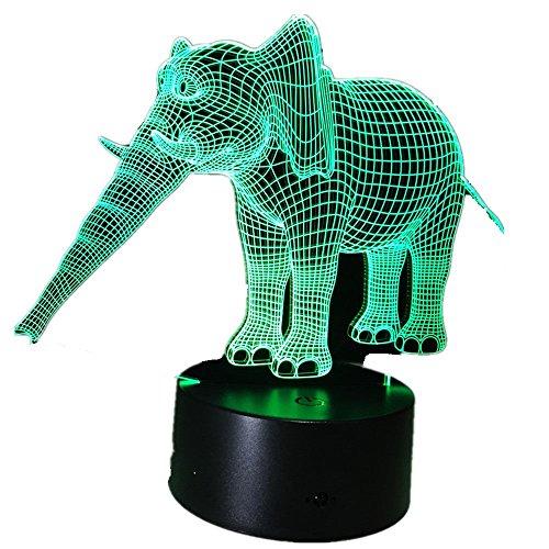 Kreative Elefant Acryl Party Nachtlicht 3D LED Tischlampe Kinder Geburtstagsgeschenk Nachtzimmer Dekoration