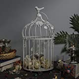 Homesake Iron Bird Cage with Floral Vine and Hanging Chain, Decorative Tealight Candle Holder - White Bird Cage - Pack of 1 camping lantern ultra brights May, 2021