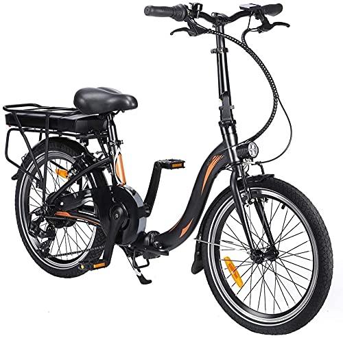 Bicicleta eléctrica plegable de 20 pulgadas, bicicleta eléctrica plegable, bicicleta eléctrica plegable con luz LED, para hombre y mujer, capacidad de carga de 120 kg (batería de 10 Ah)