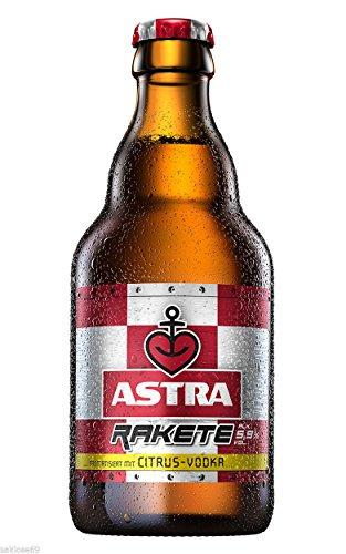 9 Flaschen Astra Rakete a 0,33L Citrus-Vodka 5,9% vol. inc. 0.72€ MEHRWEG Pfand