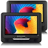 atune analog Portable DVD Players Dual Screen 2-Hour Rechargeable Battery 9in LCD Display