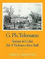 TELEMANN - Sonata en Do Mayor para 4 Violines (Morgan)