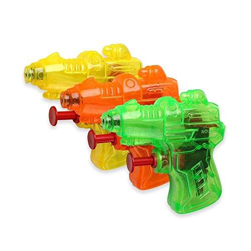 Schramm® 12 Stück Wasserpistole Mini Space Wasserpistolen Wasser Pistole Water Gun Watergun