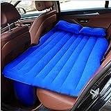 Lit gonflable de voyage de voiture de lit d'air de lit de voyage confortable de voyage de voiture de coussin de siège arrière de voiture pour des enfants (noir)