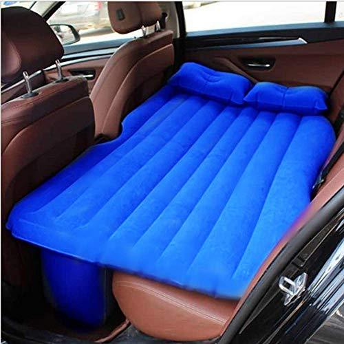 KJLM Viaggio Materasso Gonfiabile Sedile Posteriore Materasso per Auto Universale Cuscino Floccato materassino da Campeggio per Bambini (Blu)