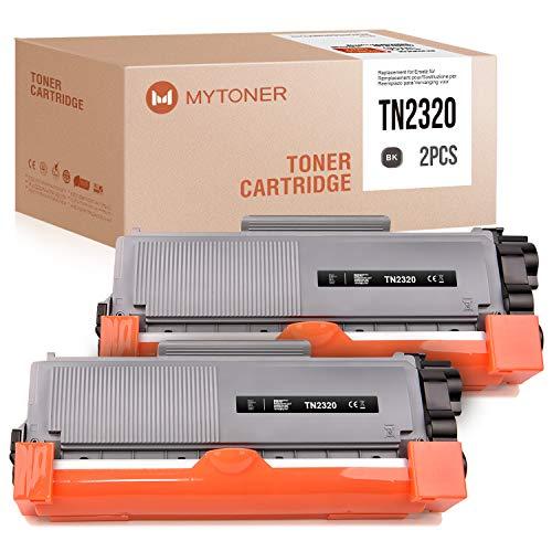 MYTONER Compatibile Brother TN-2320 TN2320 Toner per Brother MFC-L2700dn MFC-L2700dw HL-L2340dw HL-L2365dw DCP-L2500d HL-L2300d DCP-L2540dn, 5200 pagine (Nero, 2 Pack)