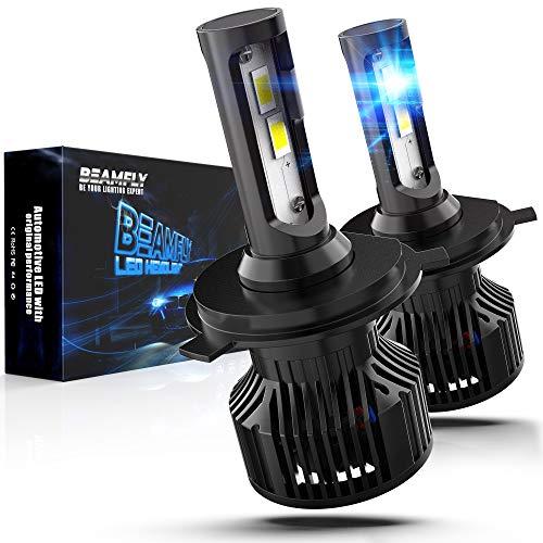 BEAMFLY H4 LED 12000LM Con Unità Di Controllo Integrata, 80W Lampadine Fari Auto, 6000K Bianco