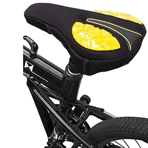 Gel Bike Seat Cover - Extra Comfortable Soft Gel Bicycle Seat Cycle 26.5174CM Bicycle Cushion Cover Silicone Thickened Road Mountain Cushion Cover Super Soft Riding Accessories