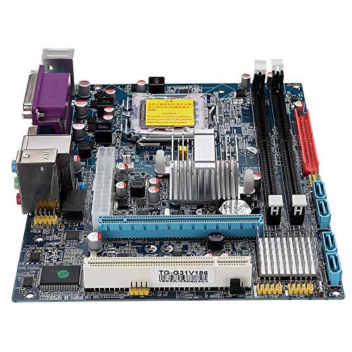 Yinglihua Computer Moederbord LGA 775 CPU DDR2 667/800 Geheugen Type G31V186 Computer Moederbord Compatibel met Intel CPU Moederbord Bundel