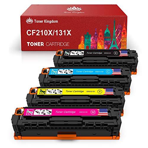 Toner Kingdom Kompatible Tonerkartusche Ersatz für HP 131X CF210X CF210A 131A für HP Laserjet Pro 200 Color M251n M251nw M276nw,128A CF320A CM1415FNW CP1525N,125A CB540A CP1515n CP1215