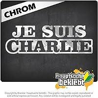 Je Suis Charlie私はパリです Je Suis Charlie I'm Paris 20cm x 7cm 15色 - ネオン+クロム! ステッカービニールオートバイ