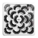 NewKelly 10 Pairs Of Lotuses With 5D Mink False Eyelashes And Natural Dense Eyelashes Sexy Beauty