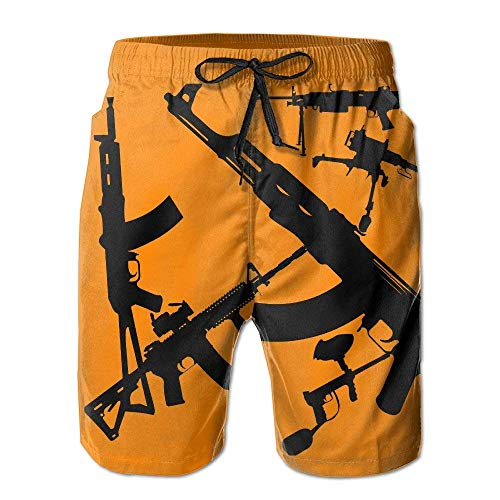 Preisvergleich Produktbild ASTTLE Men Military Gun Pattern Swim Trunk Board Short Beach Shorts, XL