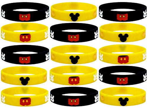 20 pc (K) Mouse Party Favors Wristband, Non-Candy Party Supplies, Gift, Goodie Bag Stuffer. (M.Mouse, Kids)