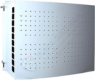 Cubre aire acondicionado blanco con puerta perforada (80 x 115 x 44 cm)