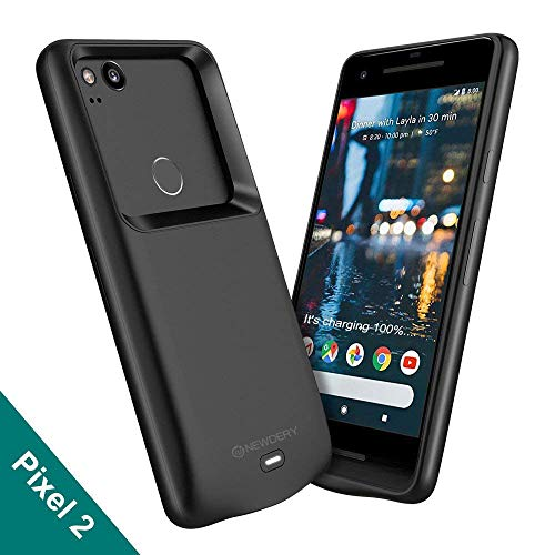 Newdery Google Pixel 2 Battery Case, 4700mAh Rechargeable External Protective Pixel 2 Charger Case, Portable Power Bank Charging Case Compatible Google Pixel 2