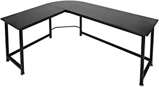 Romatlink Computer Desk, L Shaped Modern Computer Corner Table Workstation Home Office Desk, with Round Corner Table, Large PC Laptop Desk, Simple Style Design, with Foot Pad
