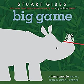 Big Game                   Written by:                                                                                                                                 Stuart Gibbs                               Narrated by:                                                                                                                                 Gibson Frazier                      Length: 6 hrs and 48 mins     4 ratings     Overall 4.8