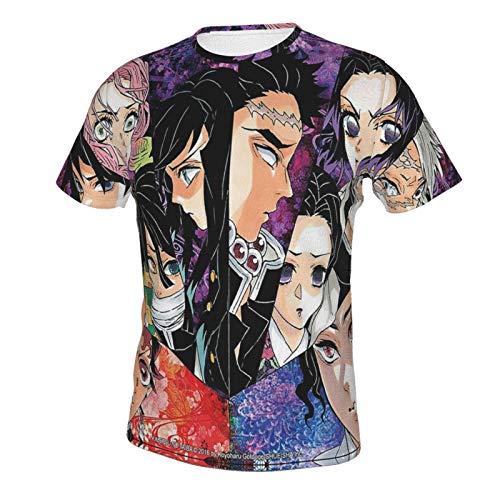 Ka-ma-do Sister Herren T-Shirt 3D Gedruckt Kurzarm Rundhals Casual Mode Klassisch Tee Tops Gr. XXL, 3