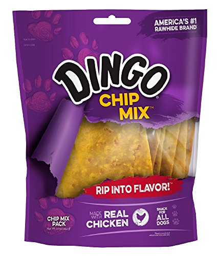 Dingo Chip Mix Snack For All Dogs, Chicken, 16-Ounce