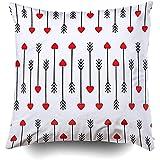 Sonder-Shop Kissenbezug, Kissenbezüge Couch Cupid Arrows Zusammenfassung Arrows Red Hearts Illustratiarrows Valentine Day Throw Cushion