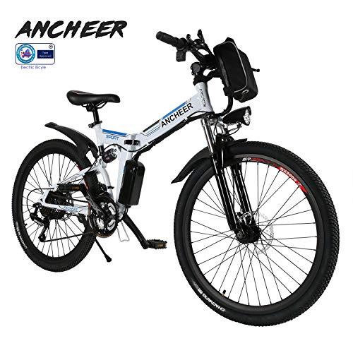 ANCHEER E-Bike Elektrofahrräder E Klapprad, 36V Akku, 26 \'\' faltbares Elektrofahrrad mit 250W Motor und 21 Gang-Schaltung, Pedelec für Damen und Herren