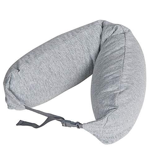 MSNLY Wuyin Almohada para el Cuello Regalo Personalizada Almohada en Forma de U Partículas Multifuncional Buena Almohada de Viaje Almohada en Forma de U Almohada para Dormir Almohada (Gris Cepillado)