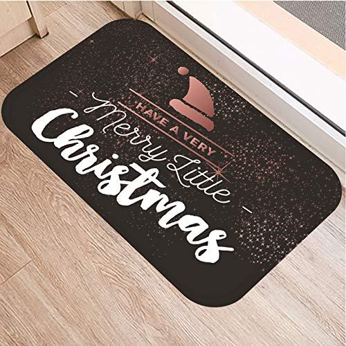 Las alfombras de área de decoración navideña Tienen un Felpudo Muy navideño Alfombra para el Piso del Festival de Navidad para la Sala de Estar y el Dormitorio,Merry Christmas,120 * 160cm