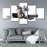 KEOA 5 Pezzi Barbiere Parrucchieri Poster, HD Stampato Quadro Tela Stampa Room Decor Immagine Tela Pittura Home Decor,A,20×30×2+20×40x2+20x50×1