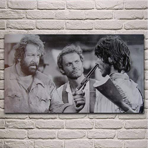 Impresión En Lienzo Sin Marco Películas Antiguas Obras De Arte Terence Hill Bud...