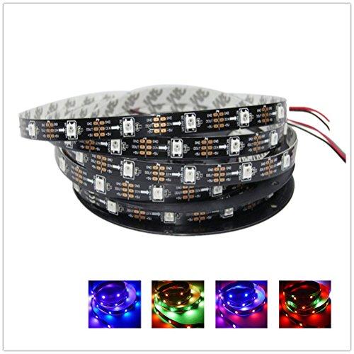 GreenICE LED Pixel-Streifen-Licht Individuell Ansteuerbaren WS2812B WS2811 IC 150Leds 30eds/m 5050 SMD RGB farben 5V DC (5Meter/roll,nicht wasserdicht IP33) (Schwarz PCB Board)
