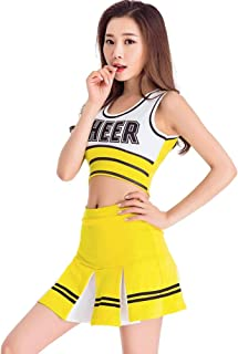 Women's School Girls Musical Party Halloween Cheerleader Costume Fancy Dress Uniform Outfit Football Baby Perform Outfit
