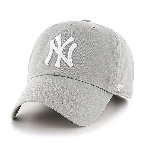 '47 Brand New York Yankees Clean Up Hat Cap Light Grey/White