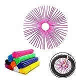 72Pcs Universal Spoke Skins Covers,Wheel Spoke Wraps Skins Pipe Trim Decoration Protector For Motorcycle Dirt Bike Yamaha Honda BMW Suzuki Kawasaki(Pink)