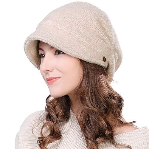 Fancet damska wełna mieszanka dzianiny daszek czapka czapka czapka piecyk chłopiec kapelusz gazeciarz kabin szczytowy beret ciepłe podszyte czapki zimowe 55-59 cm